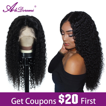 Alidoremi Brazilian Deep Wave 13x4 Lace Front Wig 100% Human Hair Wigs 8-26inch Natural Color Non Remy Hair alidoremi brazilian deep wave 13x4 lace front wig 100
