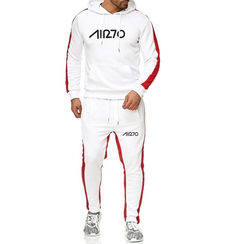 New Tracksuit Male Sportswear Gyms Hoodie Men Casual Cotton Fall Winter Warm Sweatshirts Men's Casual Tracksuit SetsTops Pants