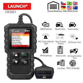 LAUNCH X431 Full OBDII obd2 code reader scanner Creader 3001 diagnostic tool Multi-language CR3001 pk AL319 AL519 OM123 elm327 2017 launch x431 dbscar 2 replacement bluetooth adapter for x431 pros mini x431 pro mini diagun iv adapter