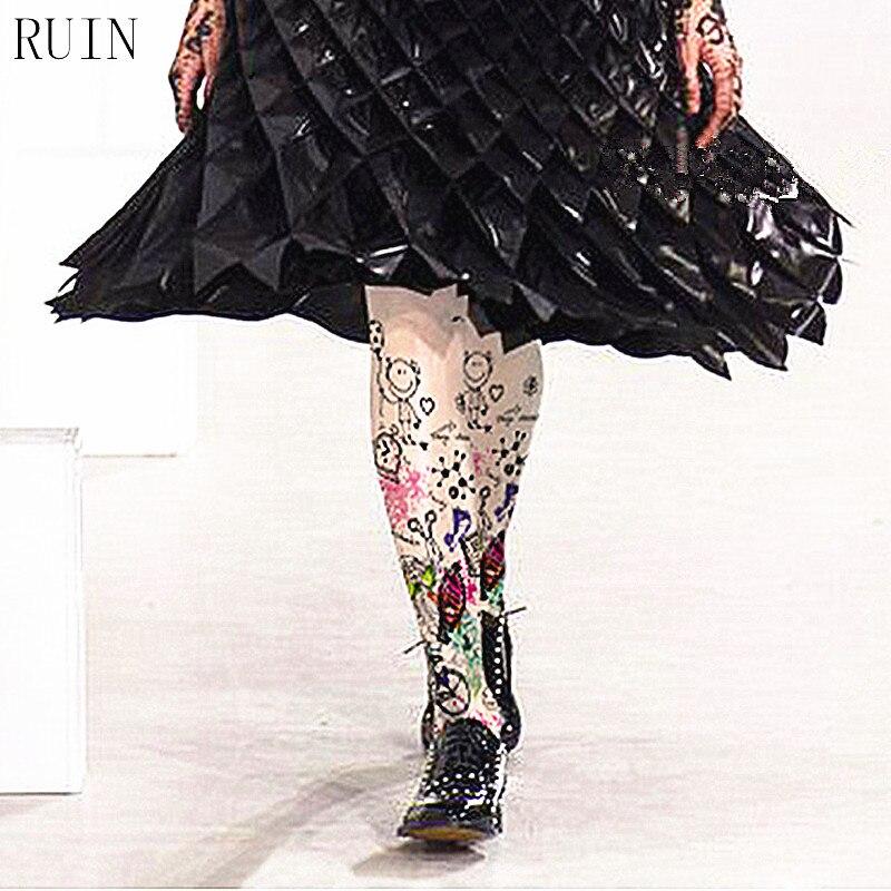 RUIN qadın qolları Graffiti rəngli əl ilə rənglənmiş cizgi çap külotlu qadın qız koltukları