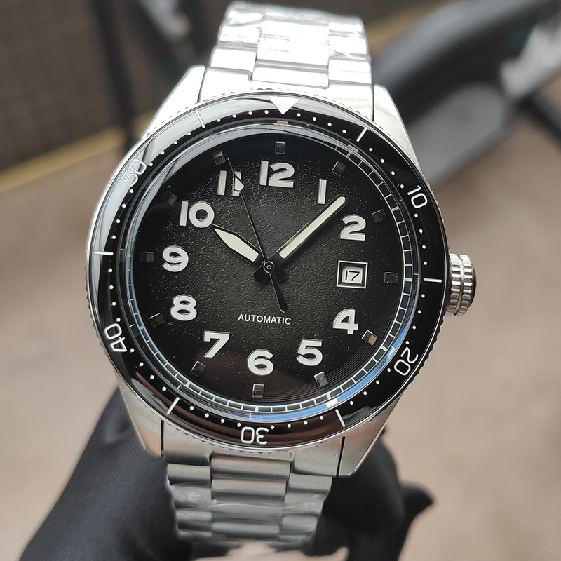 PHYLIDA Design 2020 Luxury Business Sport Mechanical Wristwatch Black Mens Watches Automatic Stainless Steel Waterproof
