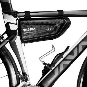 Мужская водонепроницаемая велосипедная Жесткая Сумка EVA, треугольная сумка, передняя велосипедная сумка, аксессуары для езды на велосипеде