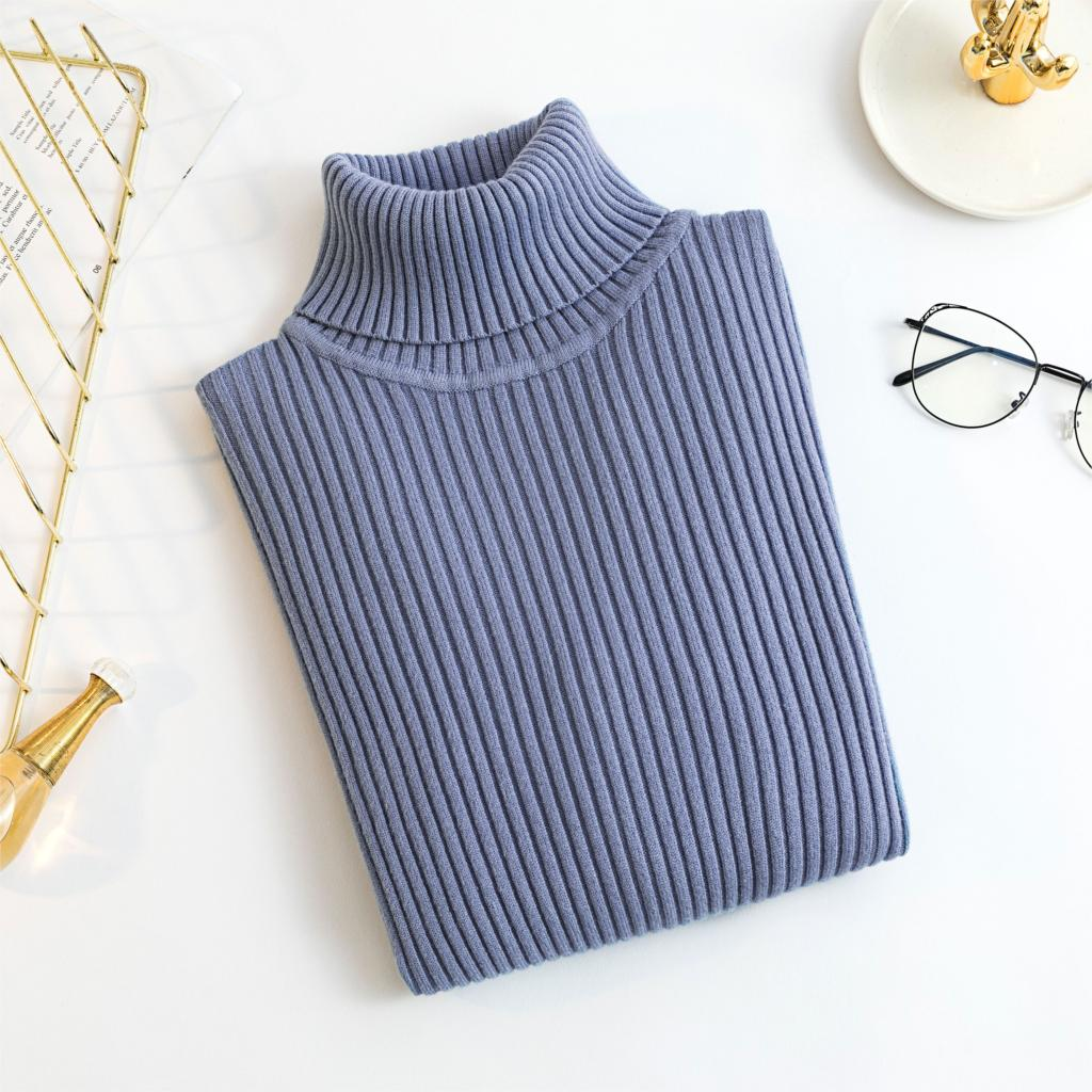 2020 AUTUMN Winter women Knitted Turtleneck Sweater Casual Soft polo-neck Jumper Fashion Slim Femme Elasticity Pullovers 18