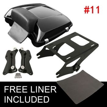 Motorcycle 5.5 Razor Tour Pack Trunk For Harley Touring Tour Pak Road King CVO Electra Street Glide FLHX FLHR FLHXS 2014-2020 motorcycle two up luggage rack docking hardware for harley tour pak touring road king electra street glide flhr fltr flhx 97 08