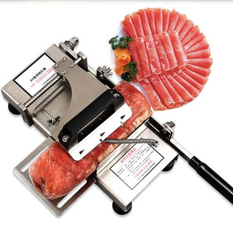 304 stainless steel automatic push mutton roll potato slicer household beef meat slicer medicinal herbs gelatin slicer slicer 4