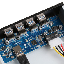 5.25in USB 3.0 Front Panel Expansion Bay Card 1X Interface PCI Express PCI-E 4 4 Ports USB