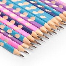 4 шт. HB Kawaii деревянные свинцовые карандаши, креативные карандаши с отверстиями для детей, подарки, школьные офисные принадлежности, новинка, канцелярские инструменты для коррекции