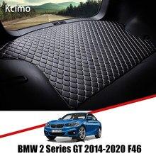 De cuero estera de maletero de coche alfombra cola BMW 2 GT buques de carga para BMW Serie 2 Gran Tourer 2014-2020 maletero bota Mat BMW F46 de Pad