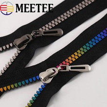Meetee 1/2pcs NO.8# Open-end Resin Zipper for Sewing Eco-friendly Jackets Coat Down Zippers DIY Garment Accessories