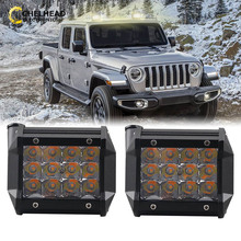 Car 12V 24V Led Work Lights Bar Lamp Day Night Driving Led Lighting Bulb 36W for Off road ATV UAZ Tractor 4x4 Coche Dual Color