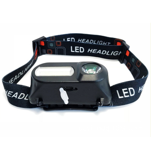 Image 2 - Mini portable outdoor camping XPE + COB LED headlight emergency head mounted flashlight with USB charging headlight flashlight