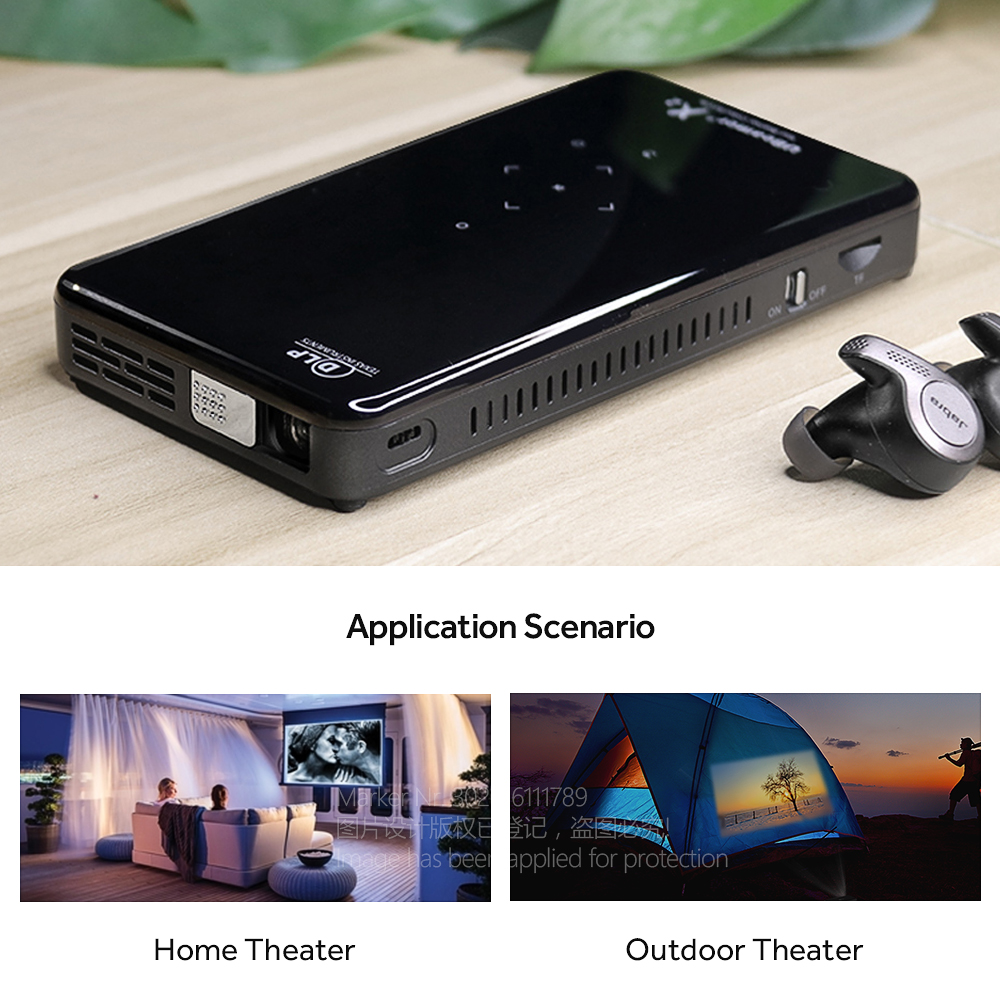 AUN Мини проектор X2, Android 7,1 (опционально 2G + 16G, версия голосового управления) wifi для домашнего кинотеатра 1080 P, портативный 3D видео проектор