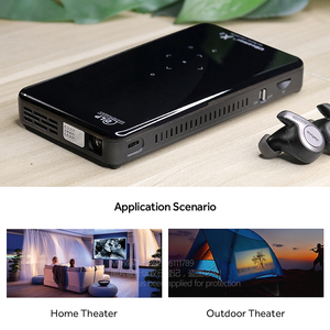 Image 3 - AUN MINI projektor X2, Android 7.1 (opcjonalnie sterowanie głosem 2G + 16G), przenośny Proyector do kina domowego 1080P, wideo 3D Beamer