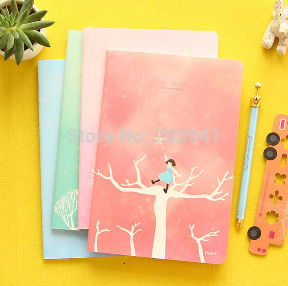 1pcs/lot Fairy Tale Fresh Star Girl Series DIY Diary Notebook Diary  stationery Office School Supplies Caderno Escolar