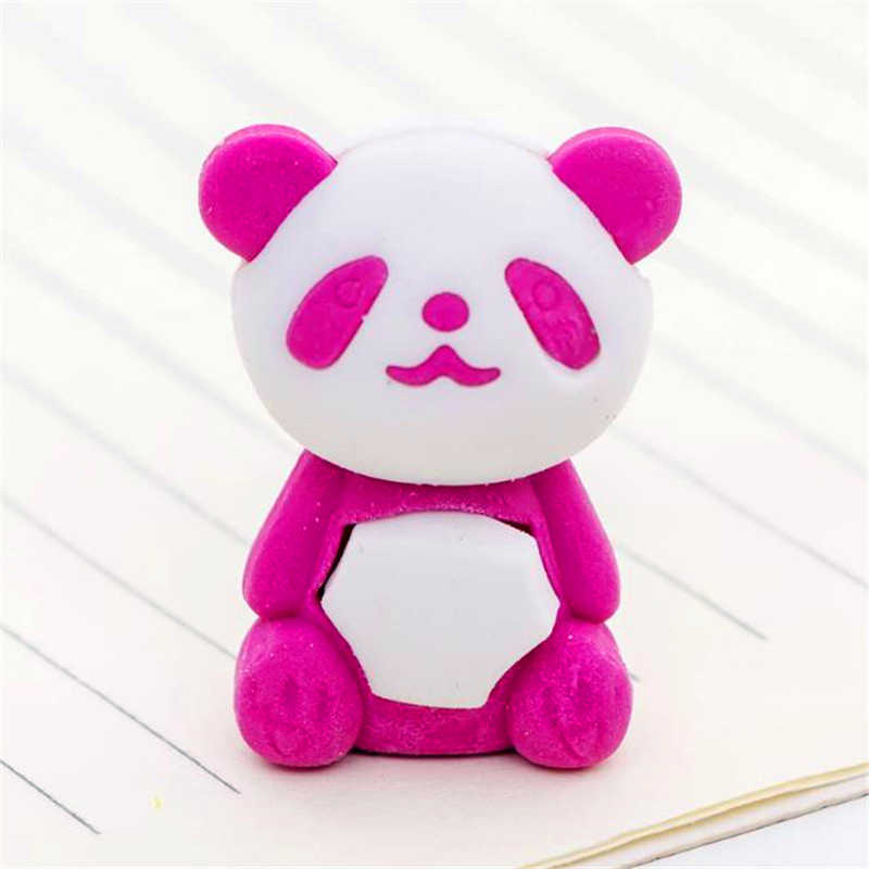 1 adet sevimli karikatür silgi güzel panda silgi çocuk kırtasiye hediye ödülleri kawaii okul malzemeleri papelaria