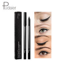 Pudaier 1pcs Black Eyeliner Pencil Cool Black Waterproof natural Eyeline Lasting easy to wear quick dry Beauty Makeup Eye liner(China)