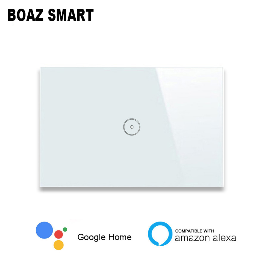 Boazsmart US AU Wifi Wall Switch Work with Alexa Google Home Voice Control APP Remote Control Light Panel Control by APP in Switches from Lights Lighting