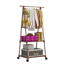 Actionclub Multifunction Triangle Simple Coat Rack Stainless Steel Removable Clothes Hanging Hanger Floor Stand Coat Rack
