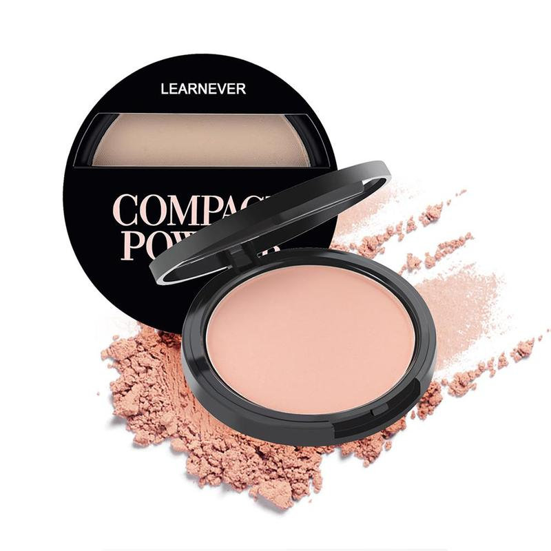 Natural Face Powder Mineral Foundation Oil-control Brighten Concealer Whitening Makeup Pressed Powder image