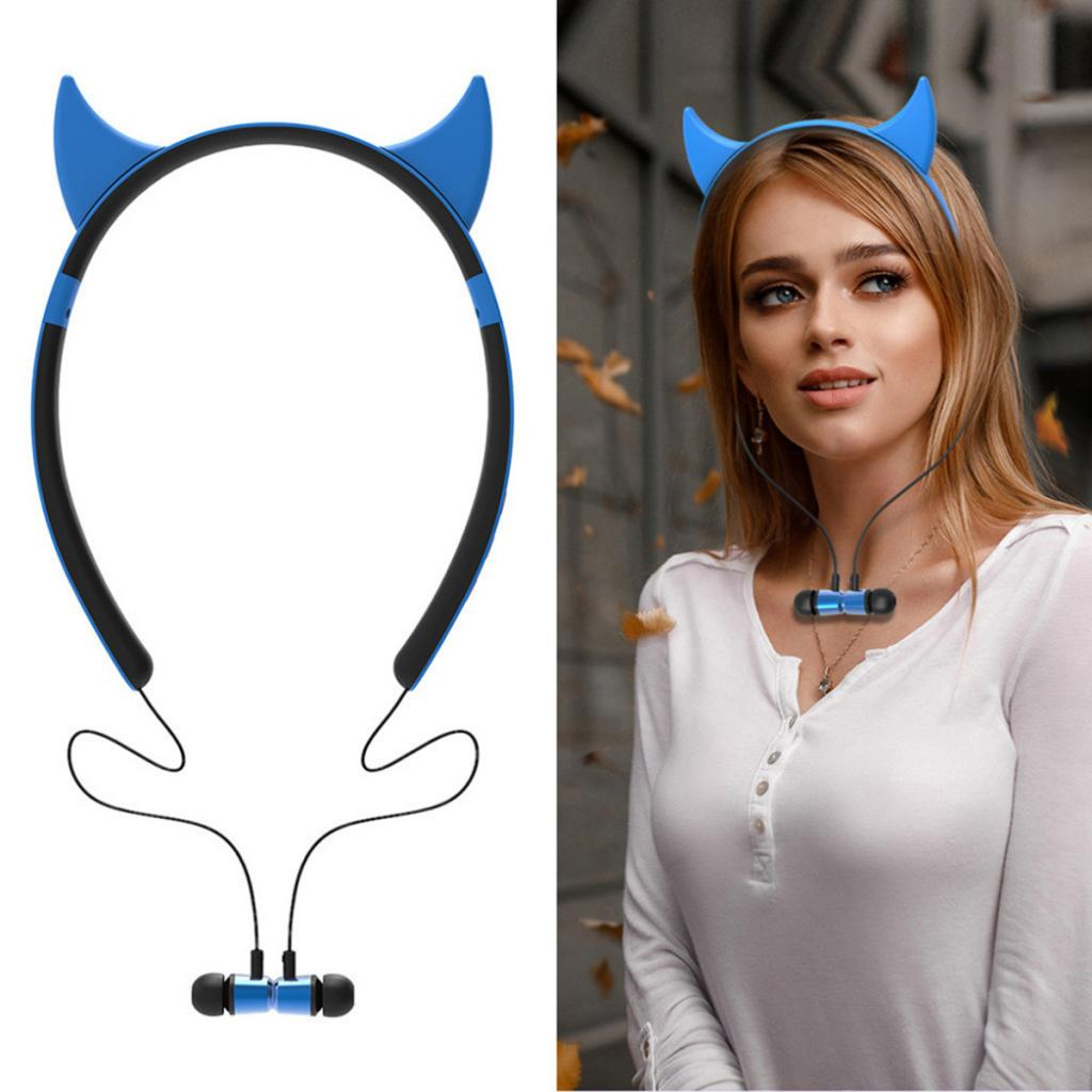 Neckband Stereo Bluetooth Earphone Wireless Headphones For IPhone Samsung Huawei Xiaomi Sports Earbud Bluetooth Headset With Mic