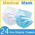 Feilikang одноразовая медицинская маска для лица белые синие Одноразовые Нетканые 3-слойные фильтрующие маски противопылевые противотуманные ...