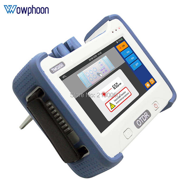 TMO350 7 Inch Screen OTDR Optical Time Domain Reflectometer 1310 And 1550nm Built-in VFL OPM OLS Red Light With FC SC ST Connect