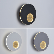 Modern creative moon led wall lamp 13W high light sconce bra bedside bedroom living room aisle corridor stair