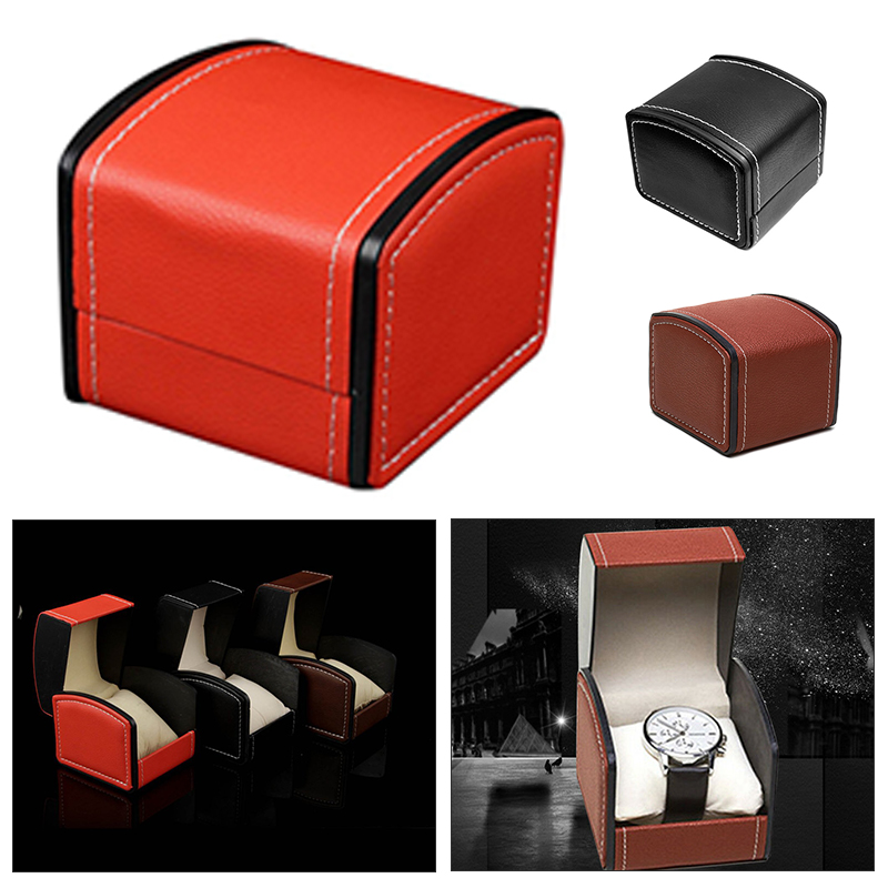 Fashion Single Multi Use Watch Box Artificial Leather Square Case Display Portable Size Watch Trend Cabinet Leatherette Antique