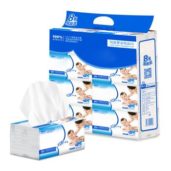 8PCS Silky Smooth Soft Premium 3-Ply Toilet Paper Kitchen Facial Tissues  Absorbent Natural - discount item  34% OFF Sanitary Paper