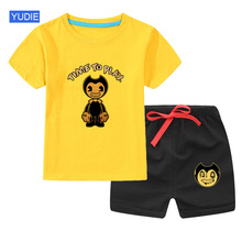 Baby Boys Clothing Sets Cute Summer T-Shirt Cartoon Children Boys Clothes Suit for Kids Outfit Outfit Infant Boy Clothes 2017 spring newborn baby boy clothes bow lie kids suit clothing sets 3pcs children bebe solid cloth outfit sport coats boys