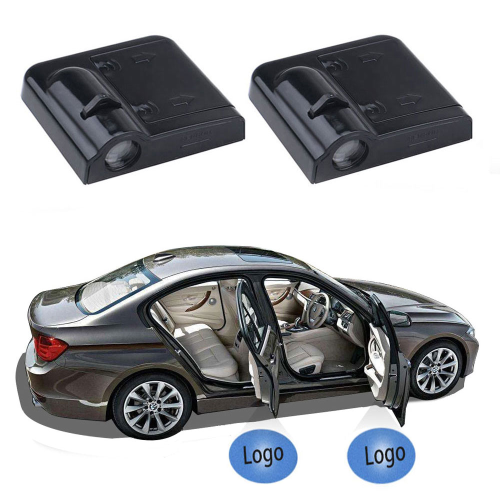 2x Car Door Light LED Projector Logo Welcome Ghost Shadow For <font><b>Volvo</b></font> <font><b>XC90</b></font> S60 V40 XC60 V50 S40 V70 XC40 V60 S80 S80L <font><b>Accessories</b></font> image