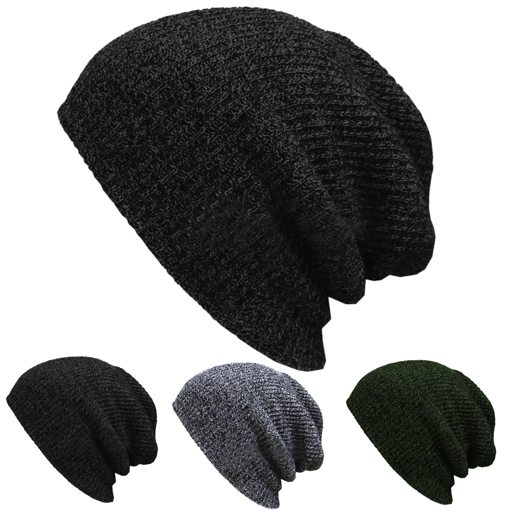 Unisex Knit Baggy Beanie Winter Hat Outdoor Skiing Slouchy Chic Women Men Knitted Autumn Fashion Cap Gorra Hombre 2019
