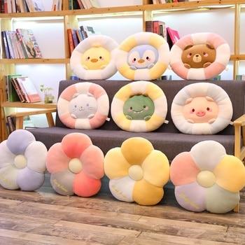цены Cartoon cute stuffed animals plush toys cushion girl office chair  cushion pillow animal crossing plush decoracion hogar cojines