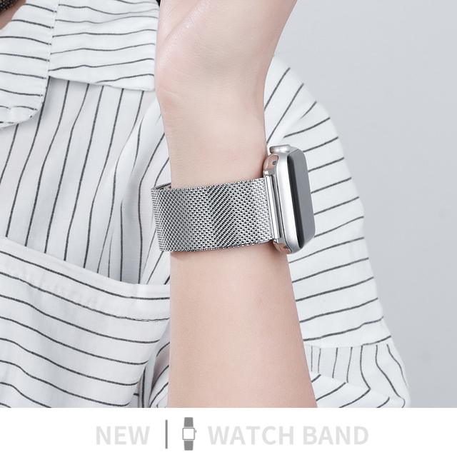 Metal Strap for Apple Watch 6/SE/5/4/3/2/1 38mm 40mm Stainless Steel Watch Band for iwatch series SE/6 42MM 44MM Bracelet Strap 3