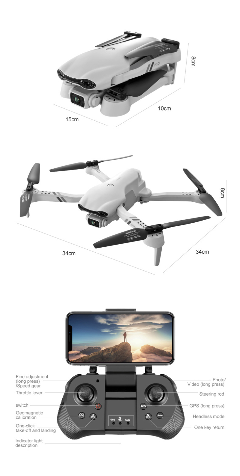 H5b2a44c324e64811948ab7760801a748J - Flying Toy 6K F10 Dual Camera With GPS 5G WIFI Wide Angle FPV Real-time Transmission Rc Distance 2km Professional Drone