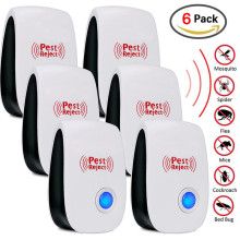 6pcs Ultrasonic Pest Repeller Electronic Anti Mosquito Mouse Rat Multi-function Rodent Cockroach Insect Mini Repellent US EU UK