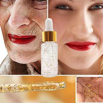 24k Gold Oil Face Primer Make Up Base Control Face Brighten Moisturizer Whitening Hydrating Smooth Soft Skin Serum Pore Minimize