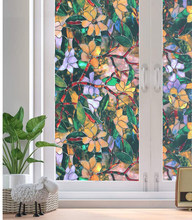LUCKYYJ Privacy Window Film Frosted Window Stickers Non-Adhesive Static Glass Window Blinds for Bedroom Bathroom Living Room