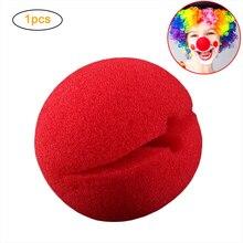 Хэллоуин Красный Губка нос мягкий клоунский нос Забавный косплей реквизит для Хэллоуина Костюм для вечерние украшения