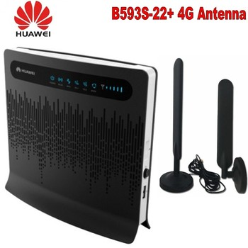 HUAWEI B593s-22 4G LTE 150Mbps Cat 4 FDD TDD CPE Mobile Wireless Router+HUAWEI Original 4G LTE External 2x Antenna for B593 SMA unlock 150mbps huawei e5577 4g lte mobile wifi router support lte fdd and tdd network band 3 740 fdd 1800 260 plus 2pcs antenna