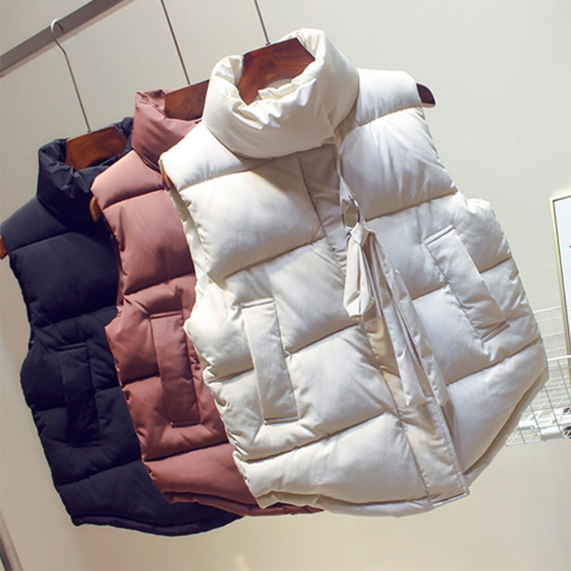 2020 Autumn Winter Women's Vest Waistcoat Button Pocket Warm Vests Woman Turn-down Collar Sleeveless Female Casual Jacket Coat