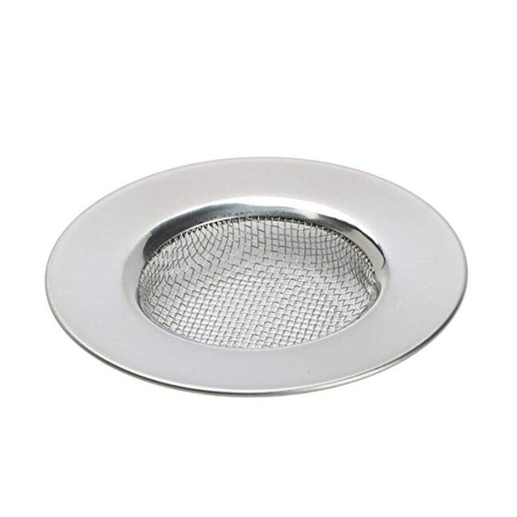 Stainless Steel Wire Mesh Sink Strainer Drain Stopper Filter Bathtub Hair Trap Stopper Drain Hole Filter Trap Kitchen Strainer