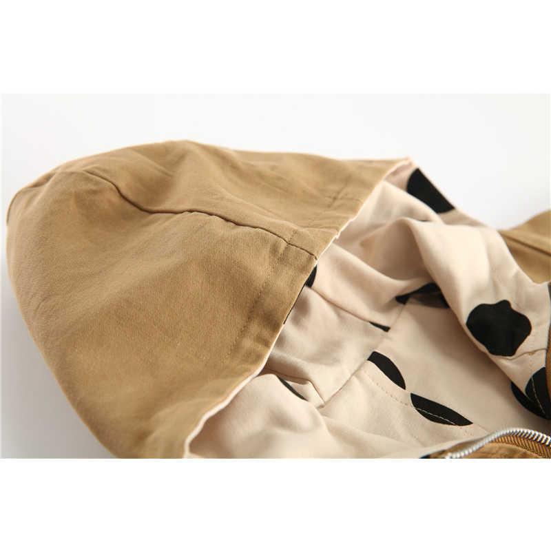 두꺼운 여자 자 켓 양면 된 소년 겉옷 편지 스포츠 코트 아이 두건 된 어린이 의류 폴카 도트 트렌치 코트 봄