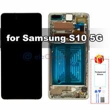 Оригинальный amoled дисплей для samsung galaxy s10 5g g977u