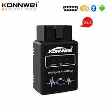 KONNWEI – KW912 ELM327 Scanner de voiture, outil de Diagnostic automobile, Bluetooth, v1.5, lecteur de Code, prise Obd2