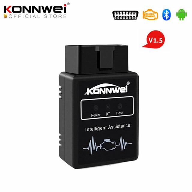 Konnwei KW912 ELM327 bluetooth Pic18f25k80 Obd2 v1.5 スキャナー車診断ツールコードリーダースキャンOBD2 自動車車Obd2 ツール