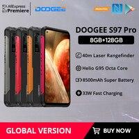 DOOGEE S97 Pro Rugged Phone 40m Laser Rangefinder 48MP QuadCamera Cellphone Helio G95 Octa Core 8GB+128GB SmartPhone 8500mAh NFC 1