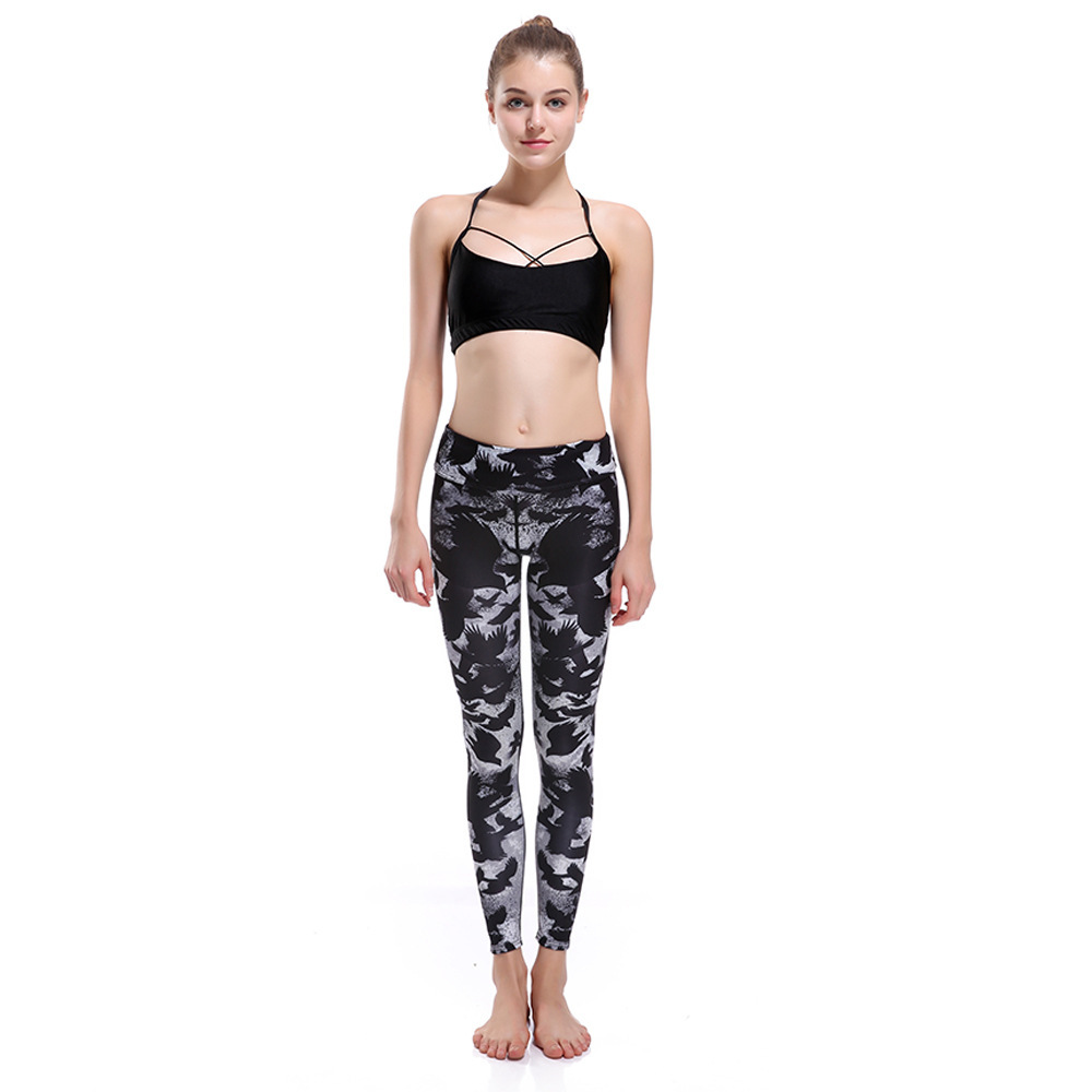 Night Bats Show Skinny Hip Lifting Exercise Breathable Super-elastic Speed Dry Nine-minute  Clothes Leggings