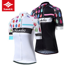 цена на Santic Women Cycling Jersey MTB Road Bike Summer Short Sleeve Bicycle Jersey Breathable Cycling Clothing Ropa Ciclismo WL8C02129