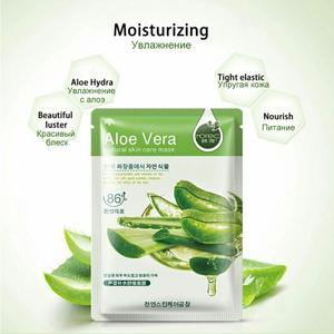 Image 5 - 20 Pcs Bioaqua Sheet Masker Slak Essentie Dope Korea Huidverzorging Gezichtsmasker Combo Plantenextract Aloë Vera Olijven Honing gezichtsmasker